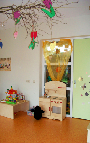 Speelruimte voor de kinderen.
